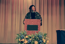 Superintendent Dr. Lora Adams-King gives her address