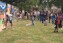 Students and teachers enjoy the Back to School Extravaganza