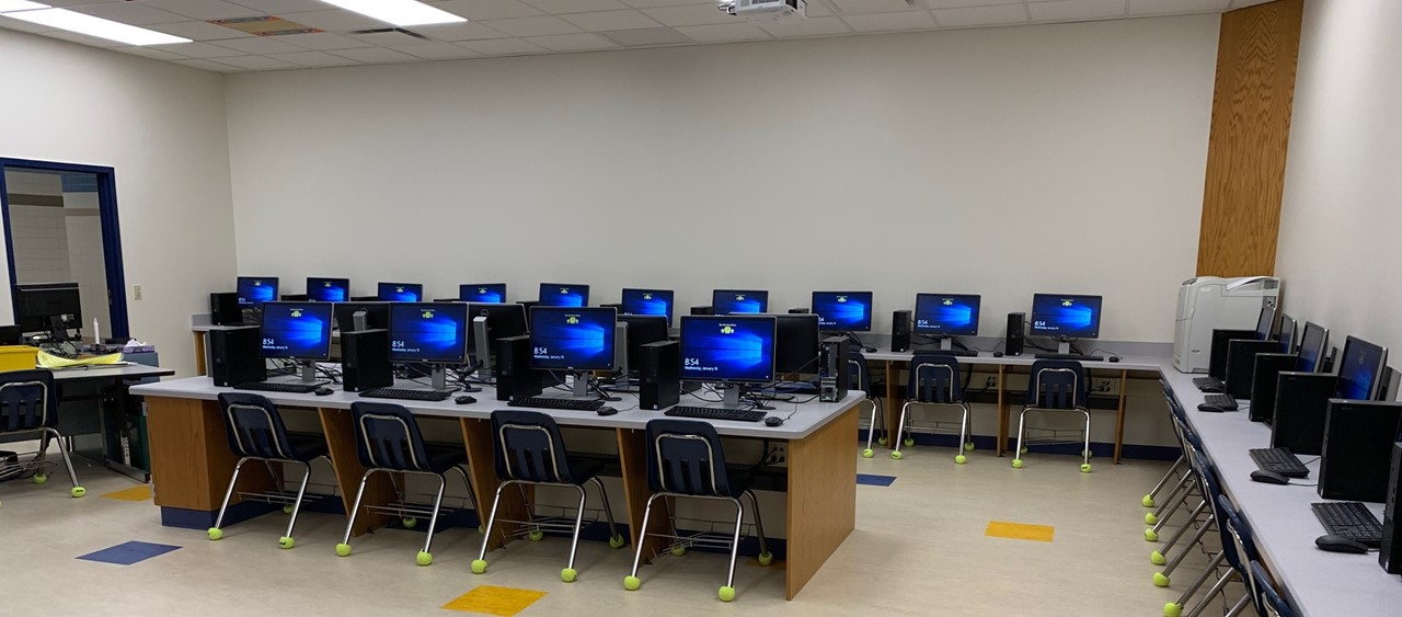 Newly renovated computer lab